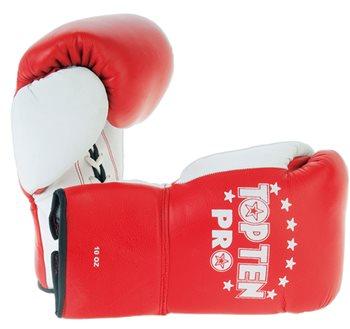 Boxe Gloves TOP TEN PRO White Thumbs 8 Oz