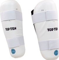 "TOP TEN Shin Guard ""WAKO Style"" White"