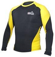Maglietta TOP TEN MMA Rash Guard manica lunga nero/giallo