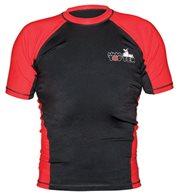 Rash Guard TOP TEN MMA short sleeve black/red