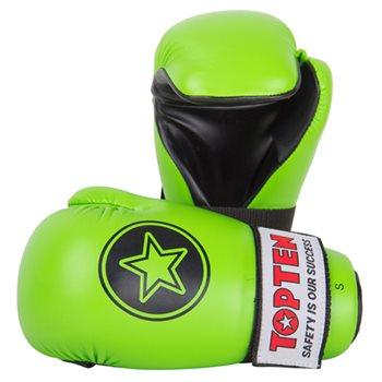 "Semi-Contact Gloves TOP TEN PointFighter ""Star"" NEON Green"