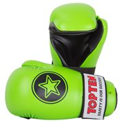 "Semi-Contact Gloves TOP TEN PointFighter ""Star"" NEON Green"