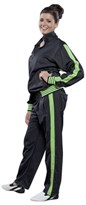 "TOP TEN Fitness Suit Stripes ""NEON"" Green"