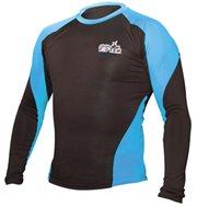 Maglietta TOP TEN MMA Rash Guard manica lunga nero/blu