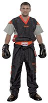 "Kickboxing Uniform TOP TEN Poly Mesh ""Neon Edition"" Black/Orange"