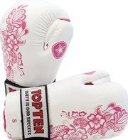"Semi-Contact Gloves TOP TEN PointFighter ""Flowers"" Weiss/Pink"