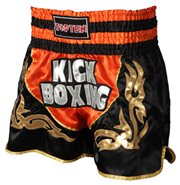 Kickboxing Thai Shorts TOP TEN NEON Orange