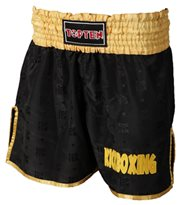 Pantaloncini Kickboxing TOP TEN Thai e Kickboxing Nero/Oro