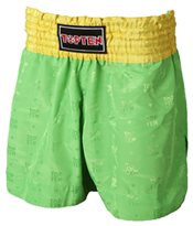 Kickboxing Shorts TOP TEN Thai and Kickboxing NEON Green