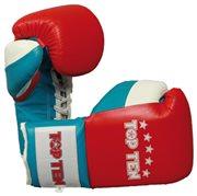 Boxe Gloves TOP TEN PRO 8-10 Oz Red/Blue/White