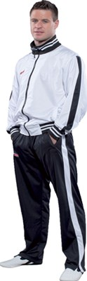 Tuta TOP TEN Fitness Stripes Bianco/Nero