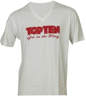 T-Shirt TOP TEN V-Neck White