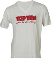 T-Shirt TOP TEN V-Neck White