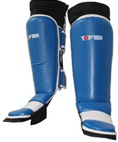 TOP TEN Low Kick and MMA Shin-/Instepguard Red/Blue
