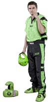 "Kickboxing Uniform TOP TEN Poly Mesh ""Neon Edition"" Black/Green"