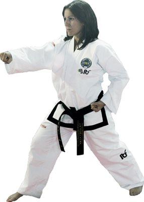 "Dobok Taekwondo TOP TEN ""Pattern"" PQ Mesh ITF 2013 Master 1-3 Dan"