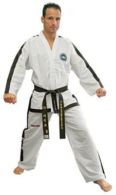 "Dobok Taekwondo TOP TEN ITF ""DIAMOND MASTER"" Istruttore >=4 Dan"