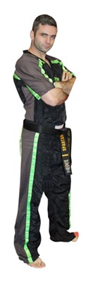 "Divisa Kickboxing TOP TEN Mesh ""Neon Edition"" Nero/Verde Neon"