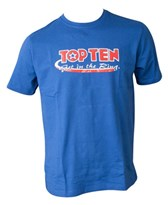 Maglietta T-Shirt TOP TEN GET IN THE RING blu