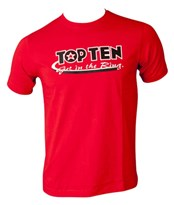 T-Shirt TOP TEN GET IN THE RING red
