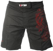 "MMA Short TOP TEN ""Dragon"" Red"