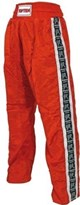 Kickboxing Pants TOP TEN Kids features WAKO-Stripe Red