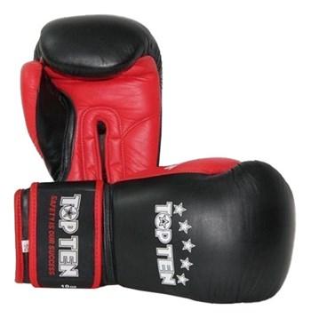 Boxing Gloves TOP TEN Black/Red 10 oz