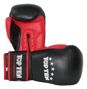 Boxing Gloves TOP TEN Black/Red 10 oz