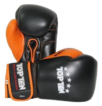 Boxing Gloves TOP TEN Black/Orange 10 oz