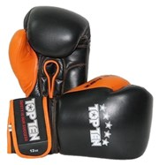 Guantoni Boxe TOP TEN Nero/Arancione 10 oz