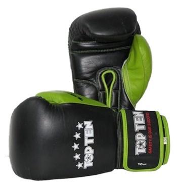 Boxing Gloves TOP TEN Black/Green 10 oz
