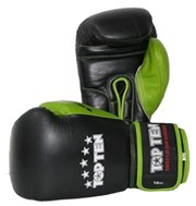 Guantoni Boxe TOP TEN Nero/Verde 10 oz