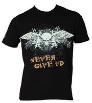 "Maglietta TOP TEN ""Never Give Up"" Nera"