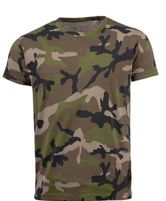 CAMO MEN - MEN'S ROUND COLLAR T-SHIRT