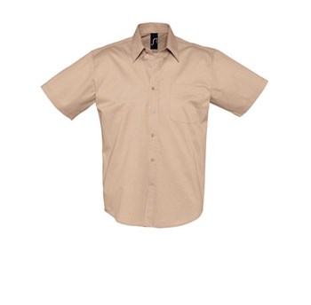 BROOKLYN - SHORT SLEEVE COTTON TWILL MEN'S SHIRT