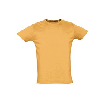FIRST - MEN'S ROUND COLLAR SLUB T-SHIRT