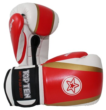 "Kickboxing Gloves TOP TEN ""Star & Stripes"" Red 10 oz"