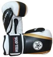 """Kickboxing Gloves TOP TEN """"Star & Stripes"""" Black 16 oz"""
