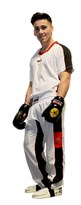 "Kickboxing Uniform TOP TEN ""Flexz"" White/Black"