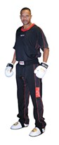 "Kickboxing Uniform TOP TEN ""Flexz"" Black/Red"