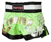 Kickboxing Thai Shorts TOP TEN NEON Green