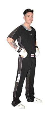 "Kickboxing Uniform TOP TEN ""Flexz"" Black/Grey"