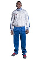 TOP TEN Fitness Suit Stripes White/Blue