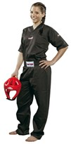 Kickboxing Uniform TOP TEN Polycotton Black
