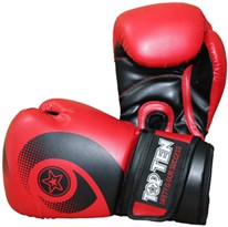 "Boxing Gloves TOP TEN ""Red Whirl"" WCS 10 oz"