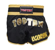 Kickboxing Thai Shorts TOP TEN FLEXZ Black/Gold