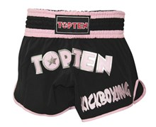 Kickboxing Thai Shorts TOP TEN FLEXZ Black/Pink