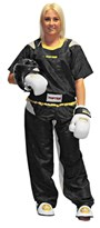 "Kickboxing Uniform TOP TEN Poly Mesh ""Special Mesh Neon"" Black/Gold"