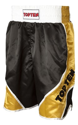 "Boxing shorts TOP TEN ""Shiny"" Black/Gold"