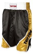 "Boxing shorts TOP TEN ""Shiny"" Black/Gold"